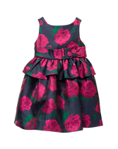 Rose Peplum Dress