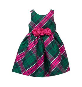 Plaid Bloom Dress