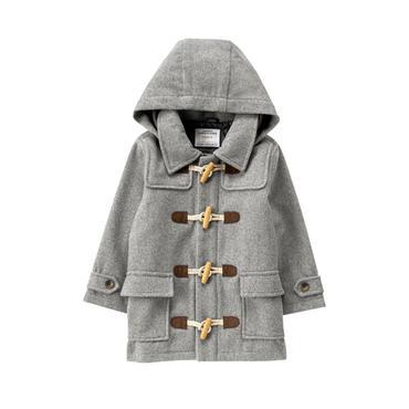 Boys Heather Grey Wool Toggle Coat at JanieandJack