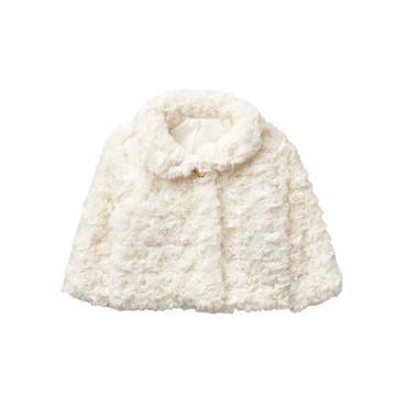 Baby Girl White Faux Fur Jacket at JanieandJack