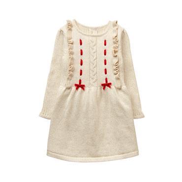 Oatmeal Shimmer Sweater Dress at JanieandJack