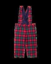 Plaid Suspender Pant