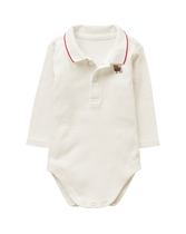Embroidered Polo Bodysuit