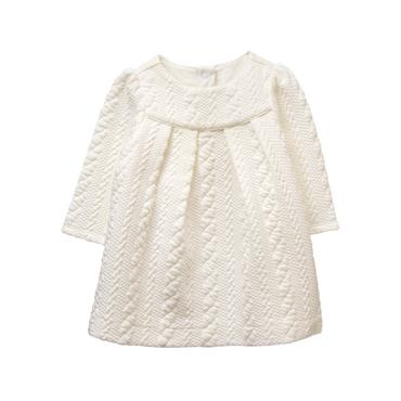 Ivory Quilted Dress at JanieandJack