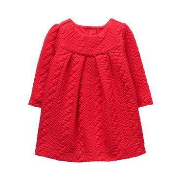 Crimson Quilted Dress at JanieandJack