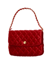 Velvet Quilted Purse