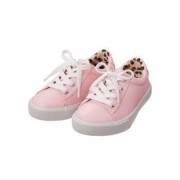 Carnation Pink Lace-Up Sneaker at JanieandJack
