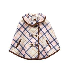 Plaid Twill Cape