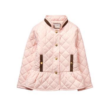 Petal Pink Quilted Jacket at JanieandJack