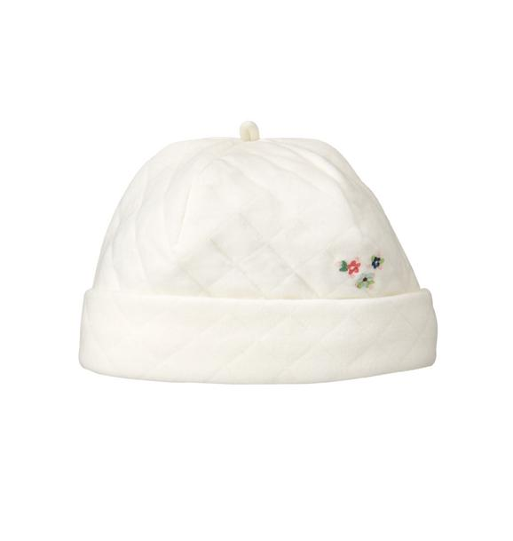 Embroidered Quilted Beanie