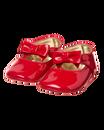 Patent Bow Crib Shoe