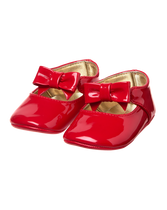 Patent Bow Crib Shoe