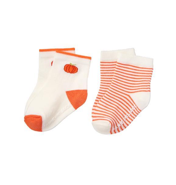 Pumpkin & Stripe Sock 2-Pack