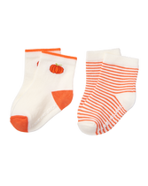 Pumpkin & Stripe Sock 2-Pack
