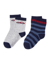 Car & Stripe Sock 2-Pack