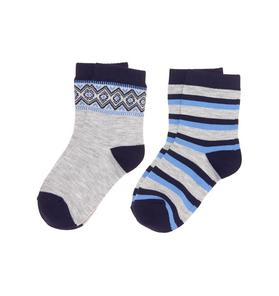 Fair Isle & Striped Sock 2-Pack