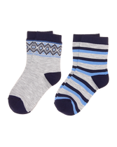 Fair Isle & Striped Sock 2-Pack