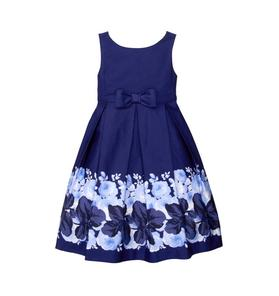 Floral Border Dress