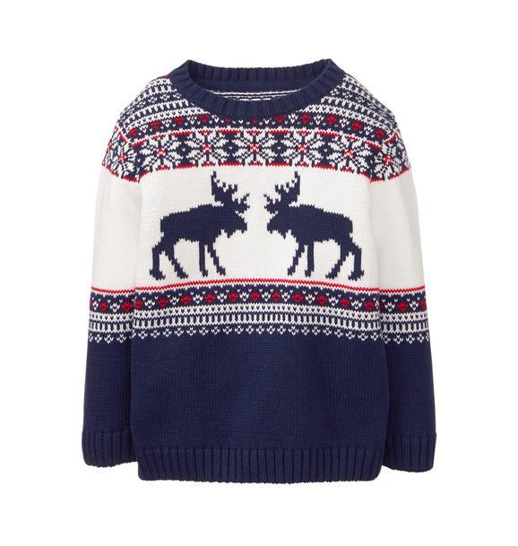 Moose Fair Isle Sweater