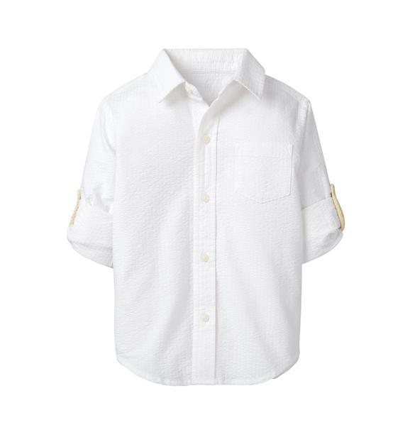 Roll-Cuff Seersucker Shirt
