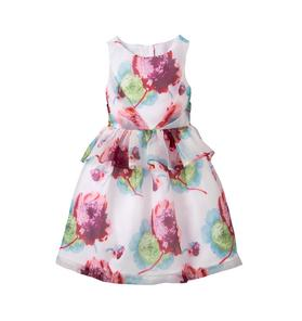 Floral Peplum Dress