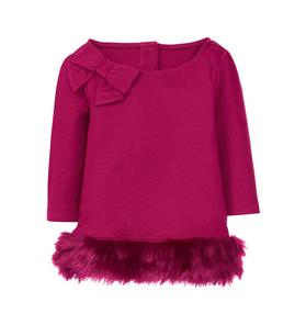 Faux Fur Trim Top
