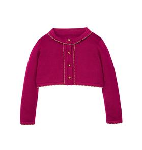 Cropped Scalloped Cardigan