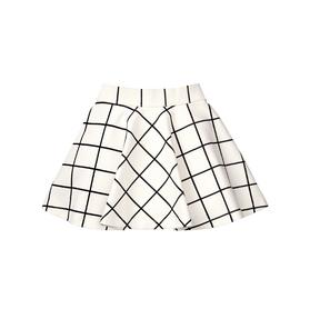 Windowpane Skirt