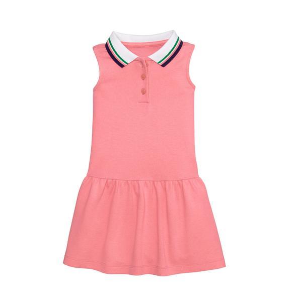 Dropwaist Polo Dress