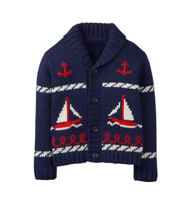 Sailboat Shawl Cardigan