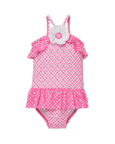 Ruffle Print Swimsuit