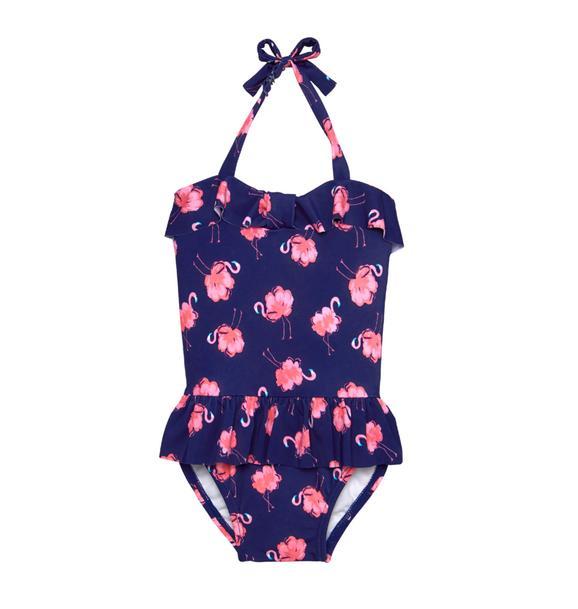 Flamingo Ruffle Swimsuit