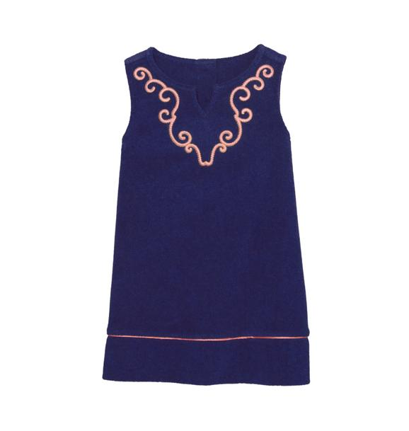 Embroidered Terry Cover-Up