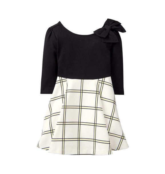 Colorblock Plaid Dress