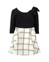 Colorblock Plaid Dress