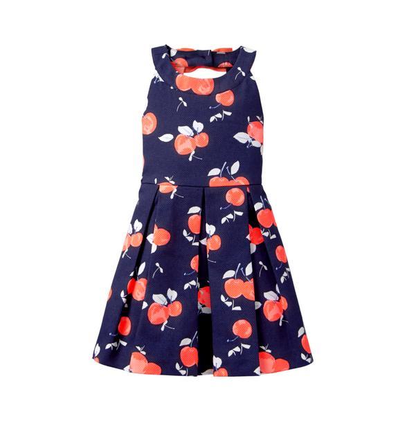Pleated Cherry Dress