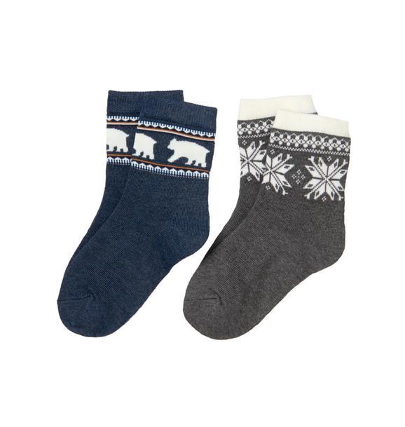 Polar Bear & Fair Isle Sock 2-Pack