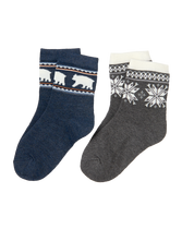 Polar Bear & Fair Isle Sock 2-Pack