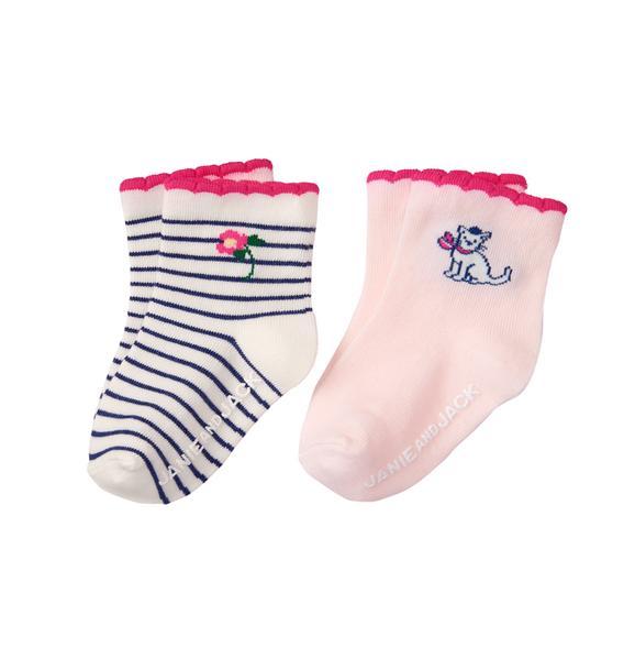 Scalloped Sock 2-Pack