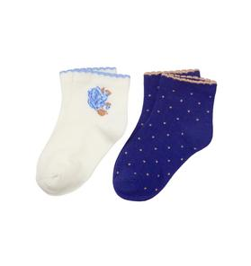 Flower & Dot Sock 2-Pack