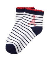 Striped Eiffel Tower Sock