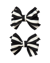 Striped Bow Barrette