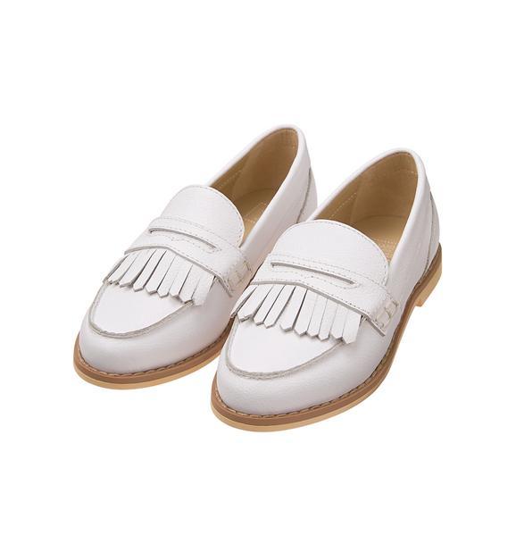 Leather Fringe Loafer