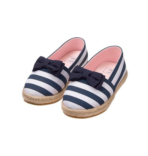 Striped Bow Espadrille