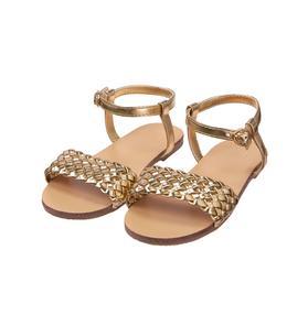 Metallic Woven Sandal