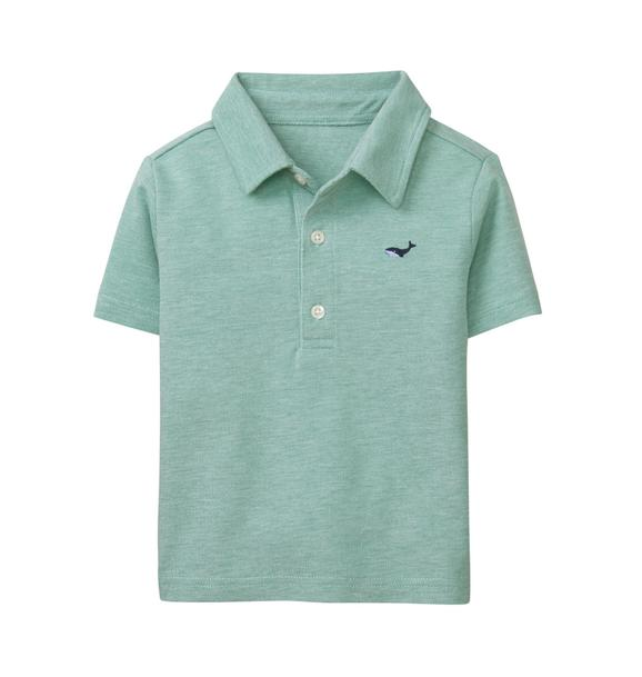 Embroidered Whale Polo