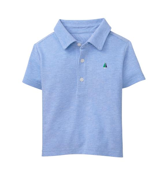 Embroidered Sailboat Polo