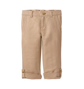 Roll-Cuff Linen Pant