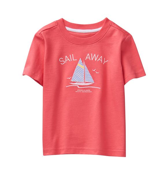 Embroidered Sail Away Tee