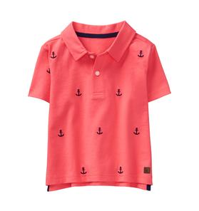 Embroidered Anchor Polo